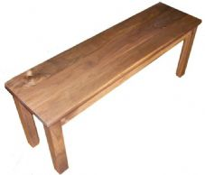 Solid American Black Walnut Dining or Breakfast Bench